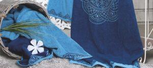 The Spirit of OM Frotteetuch ozeanblau