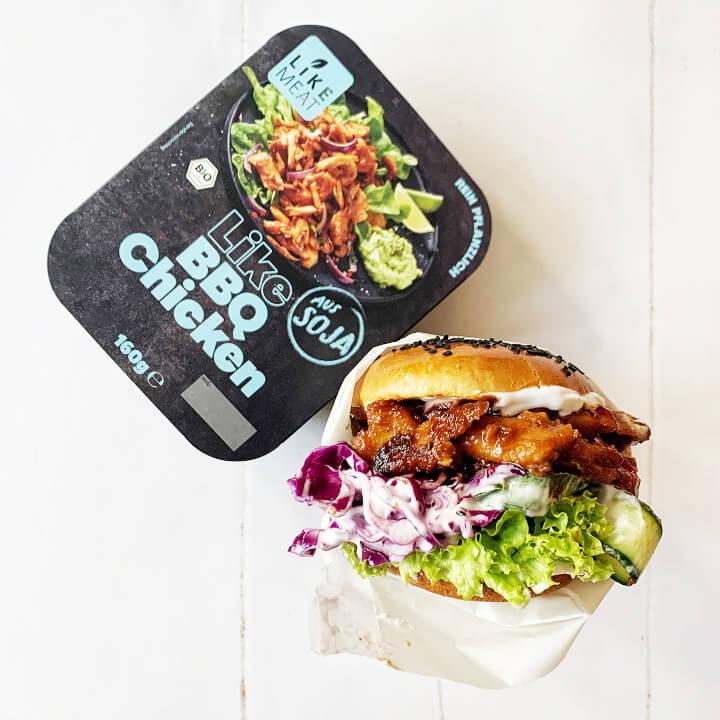 Veganer Fleischersatz BBQ Chicken Veganes Hühnchenfleisch LikeMeat