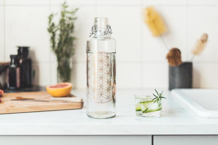 soulbottles Trinkflasche mit schönen Motiven Blume des Lebens