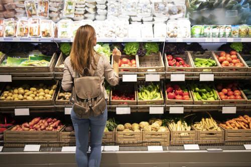Vegane Lebensmittel im Supermarkt