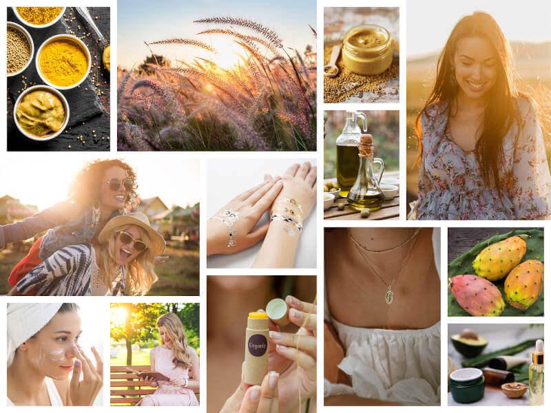 Collage Golden Summer Box August